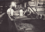Photograph, 10 of 19, Mataura Dairy Factory Album [Cheese Making, cutting curd blocks]; unknown photographer; 1927; MT2012.139.10