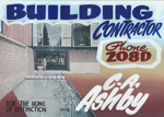 Advertising sign, C.A. Ashby, Builder; unknown maker; 1965-1975; MT2013.26.7