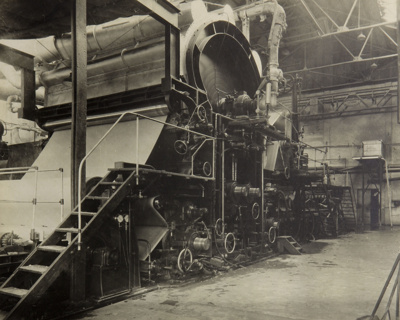 Photograph [Side View MG Paper Machine, Mataura Paper Mill]; unknown photographer; 1962-1970; MT2012.15.19