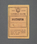Post Office Savings Bank Book, Mataura Athletic Society ; New Zealand Post Office; 1951; MT2012.133.4