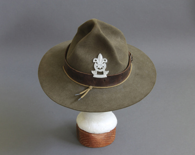 Scout hat; this felt hat belonged to Ian McKelvie ...