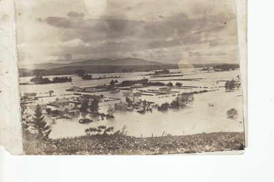 Black and white postcard showing the northern part...