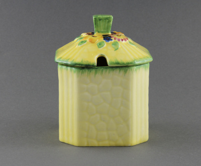 Honey pot; a 'Crown Devon' piece made by S. Fieldi...