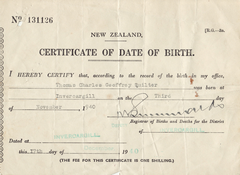 new zealand date of birth