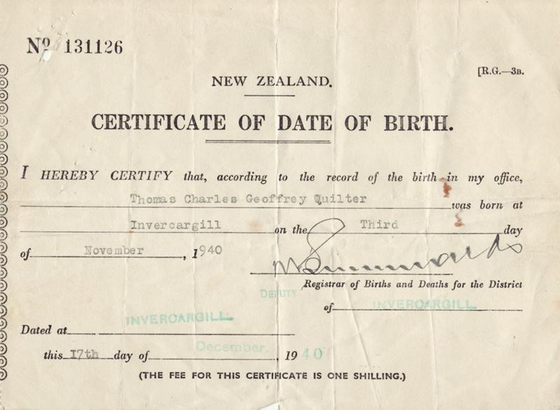 new zealand date of birth