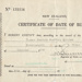 Birth Certificate [Geoffrey Quilter]; New Zealand Government; 17.12.1940; MT2015.20.77