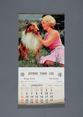 Calendar; a 1969 wall calendar for Jaymar Foods Lt...