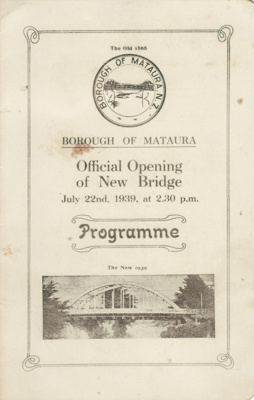 Programme; a four page programme for the Official ...