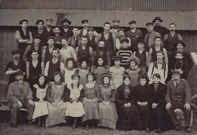 Photograph [N.Z. Paper Mill Employees (Mataura)]; c.1910; MT2011.185.213