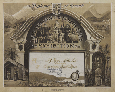 Award; (Duplicate copy) of a Diploma awarded to th...