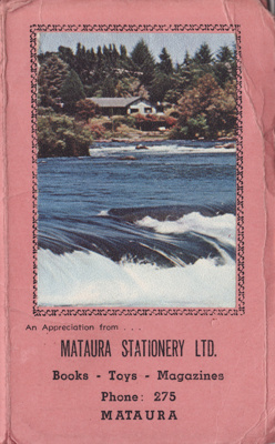 Shopping list and 1968 calendar. Gift of Mataura S...