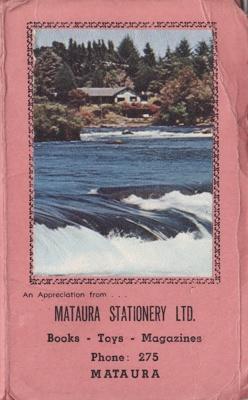 Shopping list and 1968 calendar, Mataura Stationery Ltd; unknown maker; 1968; MT2012.89.1