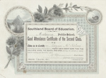 Certificate, Southland Board of Education Good Attendance Certificate, Logan McKelvie ; Craig, W. & Co; 16.04.1904; MT2012.96.2