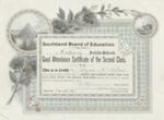 Certificate, Southland Board of Education Good Attendance Certificate, Logan McKelvie ; Craig, W. & Co; 16.04.1904; MT2012.96.2
