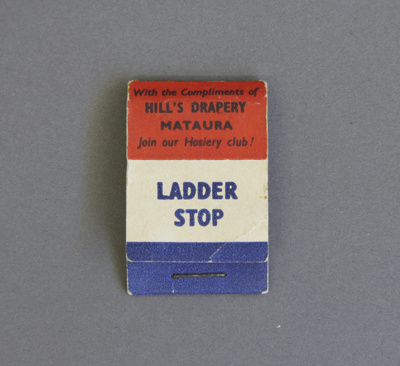 Hosiery menders; a flip top match book containing ...