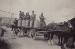 Photograph, 17 of 19, Mataura Dairy Factory Album [Cart Load of Cheese]; unknown photographer; 1927; MT2012.139.17