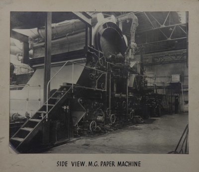Photograph [Side View MG Paper Machine, Mataura Paper Mill]; unknown photographer; 1962-1970; MT2012.15.14