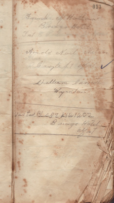 Notebook; recording the names and addresses of the...