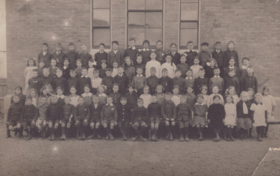 A black and white postcard of the Senior Classes a...