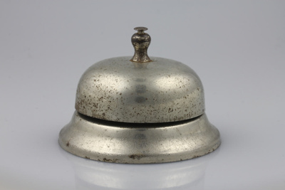 Bell; a silver counter bell from Mike Kirby's chem...