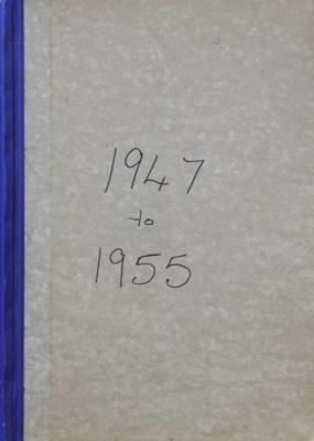 Rates Book, 1947 to 1955; Mataura Borough Council; 1947-1955; MT2000.166.2.3