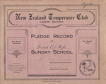 Book; Mataura Band of Hope, Junior Girls, Pledge Record; Band Of Hope; 1925-1939; MT2012.90.3