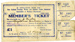 Membership Ticket, Freezing Works Union; Otago-Southland Freezing Works and Related Trades Industrial Union of Workers; 1922-1923; MT2015.2.2