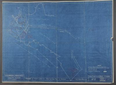 Survey blueprint; Plan of Genge's Opencast Coalmin...