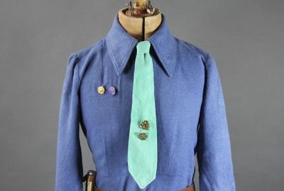 Girl Guides Leader's Neck Tie; unknown maker; 1955-1963; MT2012.30.2