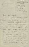Letter, Major L.P. Molineux to Clara Quilter re her husband's war grave; Major Laurence Peile Molineux (138386); 10.05.1945; MT2015.20.70
