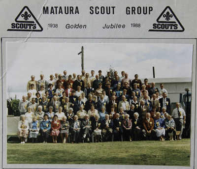 A colour photograph taken of the large group of at...
