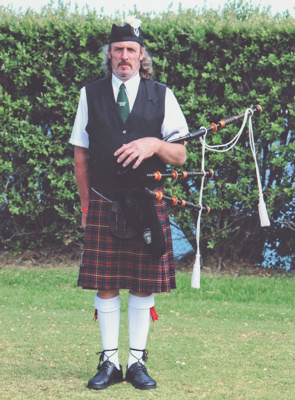 Photograph; a coloured photograph of piper Jeff Sh...