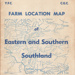 Book, Farm Location Map, Eastern and Southern Southland, 1971; Seaward Downs Young Farmers Club; 1971; MT2014.3