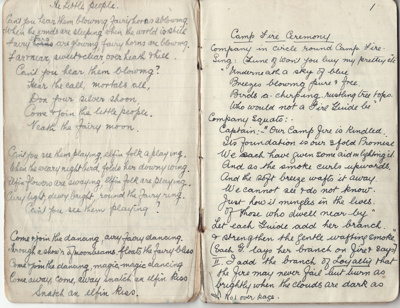 Book, Girl Guide songs (1 of 2); Woodhouse, Irene (Doctor); 1931; MT2012.102.2