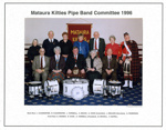 Photograph [Mataura Kilties Pipe Band Committee 1996]; Bremford, Arthur (Gore); 1996; MT2014.36.30