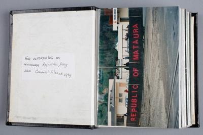 Album, photographs [Mataura Republic Day]; unknown photographer; 1989; MT2014.24