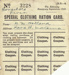 Ration Card [Clothing]; New Zealand Government; 1943; MT2017.4.3