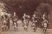 Photograph [Mataura Kilties Pipers, Five Cameron Brothers]; unknown photographer; 1917-1930; MT2014.36.17