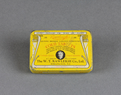 Tin; Rawleigh's Cold Tablets, donated to us by Roy...