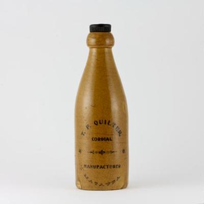 Bottle; an internal screw stone bottle made for T....