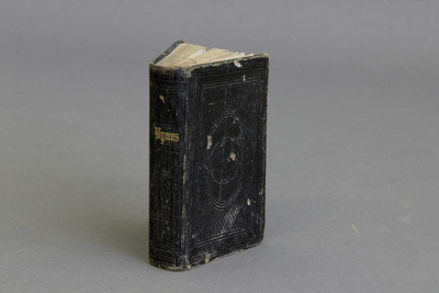 Hymnal; Pocket sized leather bound hymnal. The lea...