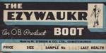 Label, shoe box ; M O'Brien & Co Limited; 1965; MT2012.16.6