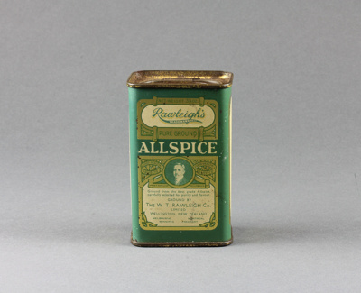 Tin; Rawleigh's Allspice; Rawleigh, W. T. Co. Ltd.; 1930-1980; MT2016.16.4