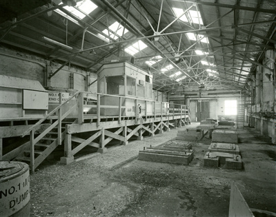 Black and white photograph of the Dump Chest Room ...