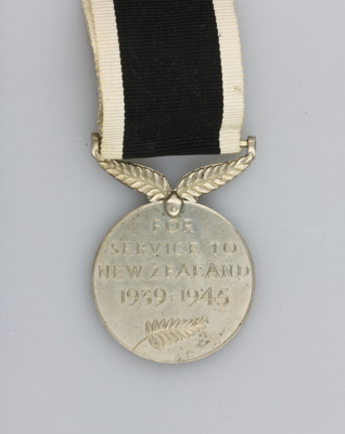 Medal; N.Z. War Service Medal awarded to Driver Hu...