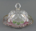 Glass Dish with Dome Cover; unknown maker; 1890-1930; MT1993.69