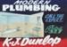 Advertising sign, K J Dunlop, Plumber; unknown maker; 1965-1975; MT2013.26.1