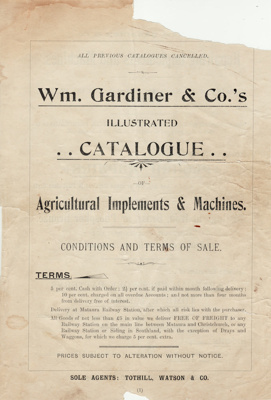 Catalogue; a 56 page sales catalogue published by ...