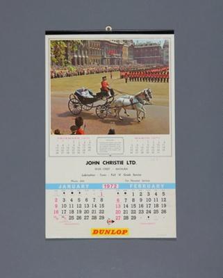 Calendar, John Christie, Mataura; Allen, L. R.; 1972; MT2012.107.7