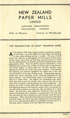 Pamphlet, produced by New Zealand Paper Mills Limi...